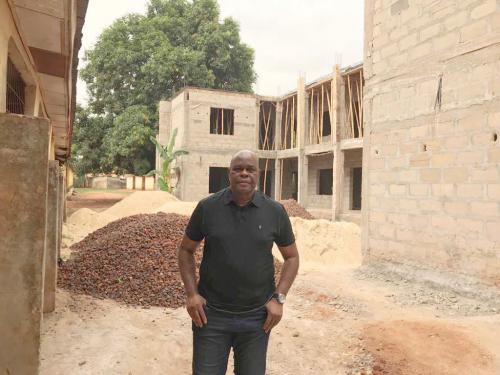 Foundation Chairman Dr. Okey Anueyiagu Inspecting The New School Building